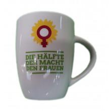 """Tasse, weiß mit """"Frauen-Logo"""""""