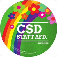 Aufkleber CSD statt AfD