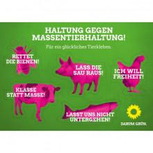 """Stickerset """"Tiere gegen Massentierhaltung"""""""