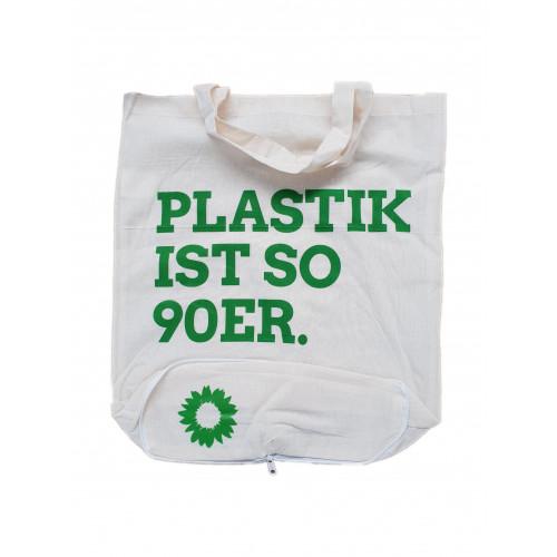 Einkaufstasche Plastik ist so 90er