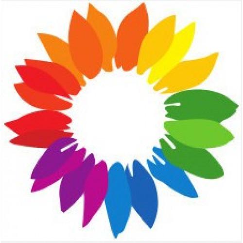 Klebetattoo Blume Regenbogen