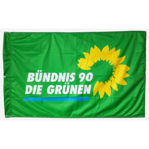 Tragefahne Logo Bündnis 90/Die Grünen
