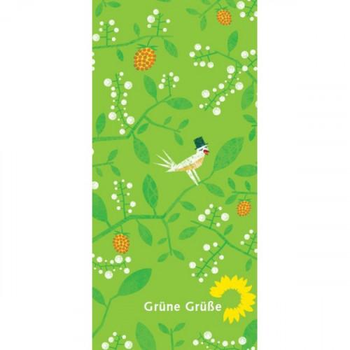 "Grußkarte ""Grüne Grüße"""