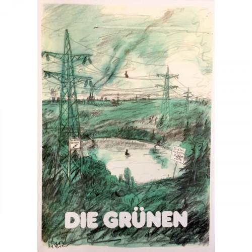 "Plakat Hurzlmeier: ""Hasen in Industrielandschaft"""