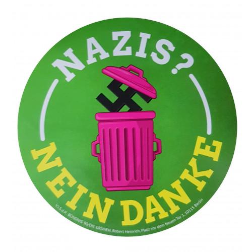 """Aufkleber """"Nazis? Nein, danke."""""""
